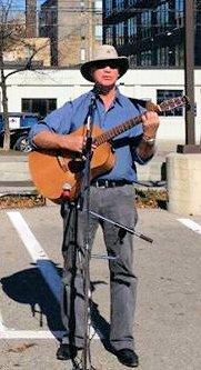 Murray performing at Liberty Village.